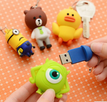 Cartoon Character PVC USB Flash Drive 4GB 8GB For Promotional Gift