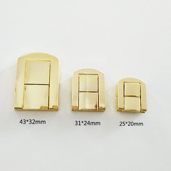 Hot supply box accessories gold small 25mm metal box lock for Jewelry box