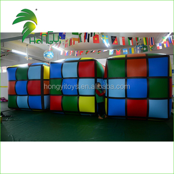 Custom Inflatable Helium Square Rubik's Cube Balloon / Giant Inflatable Dice / Inflatable Cube