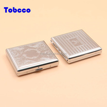20 Pack Factory Direct Tobacco Box Time Lock Luxury Bling Metal Cigarette Case