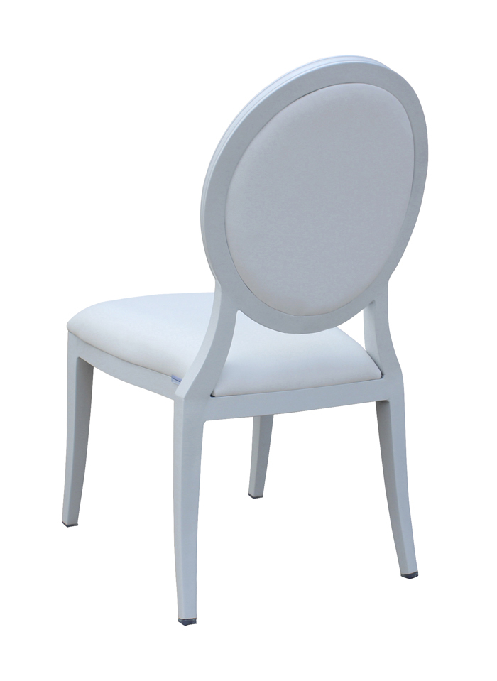 Wholesale Stackable Ghost Aluminium Chairs White Louis