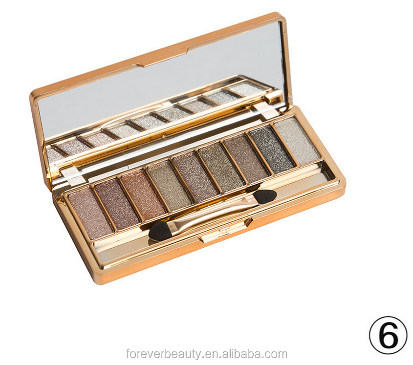 Golden beauty <strong>cosmetics</strong> 9 colors shinny eye shadow glitter eye shadow palette