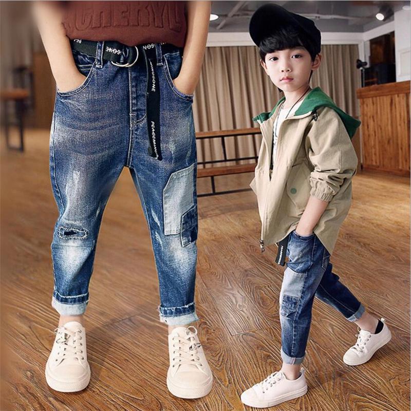 Fashion Boys Bébé Garçon Enfants Chaud Jeans pour printemps automne Children/'s Denim Pantalon