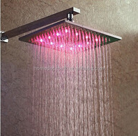 10inch Copper Square Water Temperature Controlled RGB LED Shower Head