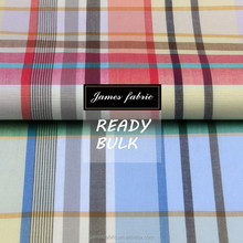 James ready bulk big colorful check regular soft 15/16 new developed cotton plain fabric