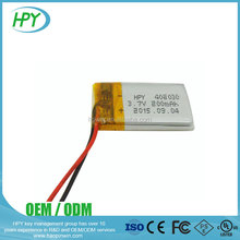 3.7v 200mah lithium li ion polymer battery with CE UN38.3 certificates