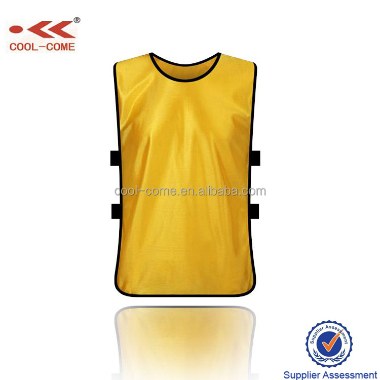 2016 Unisex yellow soccer training bibs vest