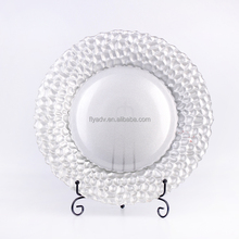 Glass Plate Set Blown Glass Plate Decoration, Frosted Glass Plate