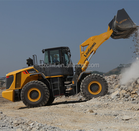 hot sale liugong 856 used wheel loader with rock bucket and joystick
