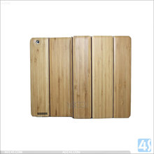 Protective case for Apple ipad 4 ,for ipad 4 cover tablet cases ,Three Folding Bamboo + PU Leather Case for iPad 2/3/4