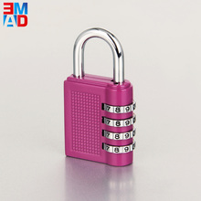 Colorful security keyless reset promotion 4 digital zinc alloy code lock for travel luggage