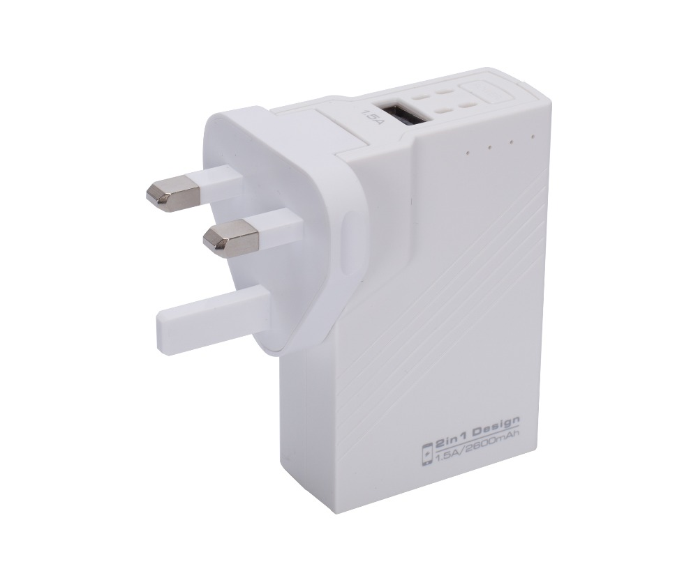 Ultra mini External <strong>Battery</strong> Charger /3000mAh AC Power Bank USB Wall Charger