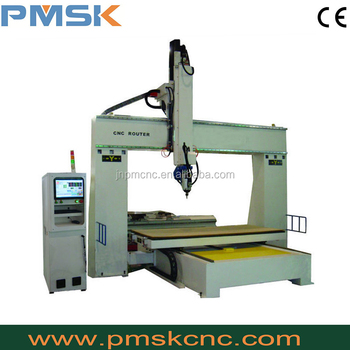 PM-1224 Trade assurance Good Quality 5D Wood Carving cnc 5 axis milling machine