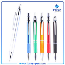 Promotional six color metal bullet gold ball pen