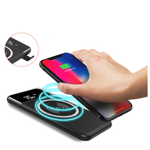 Universal 5V 2A fast qi Mobile Charger Wireless Power Bank for Iphone for Samsung