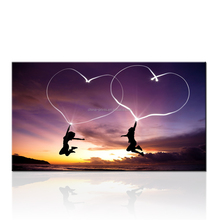 Shape of My Heat Inkjet Canvas Printing/Natural Sunset Canvas Art Printing/Romantic Two Lovers Dancing Painting On Canvas
