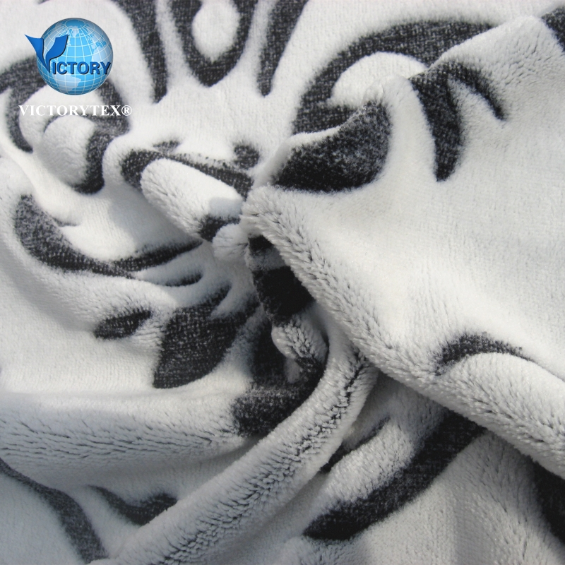 3D Full Back Printed <strong>Polyester</strong> Carving Clipping Single Side Thermal Baby Embossed Flannel Fleece Fabric for Blanket Bathrobe