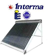 Heat pipe solar collector absorbs the solar energy to make the hot water