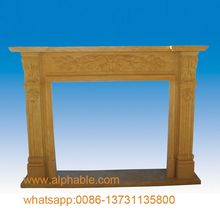 Popular Design Natural Marble UK Fireplace mantels