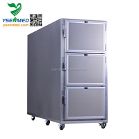hot sale 3 body stainless steel mortuary freezer