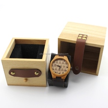 custom made luxury wooden watch gift packaging box for wholesale