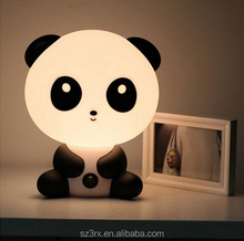 custom cartoon panda night light for kids/cute panda shape led night light/plastic led 3D night light