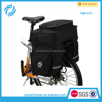 2014 Black Bicycle Saddle Bag Motorcycle
