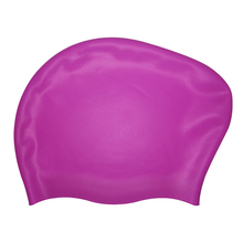 soft waterproof silicone swim cap for long hair