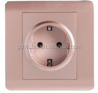 New German standard multiple 3pin Recessed wall socket for home plug