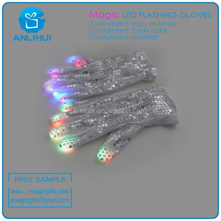 LED Flashing Gloves Glow DISCO Party Hallowmas Party Decorations