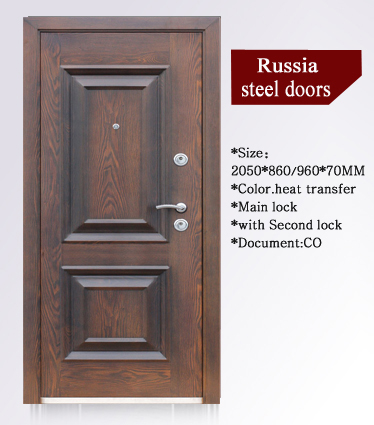SONCAP CIQ CE Approved Steel Wooden Armored Door