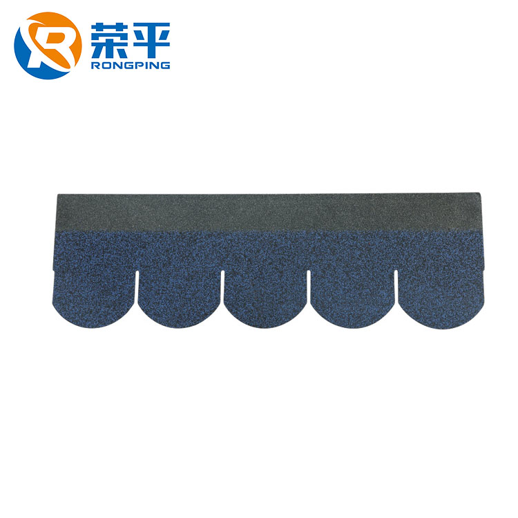 China suppliers landscaping extra arc asphalt shingles fish scale house bitumen gravel roof tile