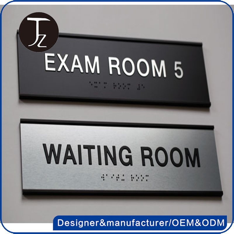 Casting Craftsman Customized wall mounted metal acrylic plastic restroom toilet ADA braille sign