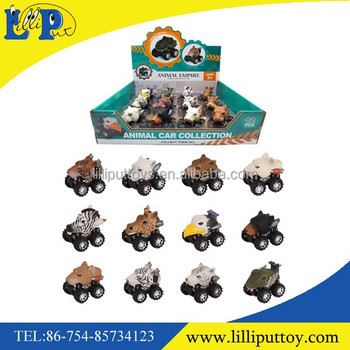 Assorted wild animal toy car