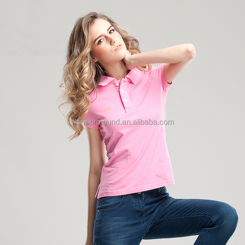 blank polo shirt wholesale China fashion t shirts custom colors designs womens polo brand shirts