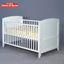 Convertible nursery furniture antique extensible wooden swingingbaby crib