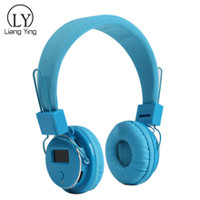 Cute Headband Cheap Wireless Bluetooth Earphone Studio Headphone with Screen
