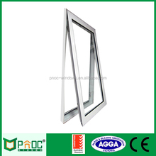 Double Layer Glass Window, Energy Saving Aluminium Chain Winder Large Glass Windows For Container Homes
