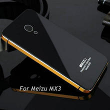 "for Meizu MX3 5.1"" Hightest Quality Back Cover Case for Meizu MX3 Luxurious series tempered glass cover for MX3"