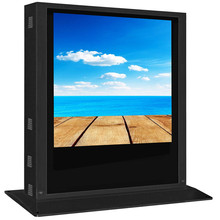 All weather proof 55 inch outdoor digital signage LCD , built in mini PC I3 , 2000nits sunreadable bus station outdoor LCD Totem