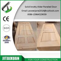 Internal solid knotty alder 2 panel door 6 panel door