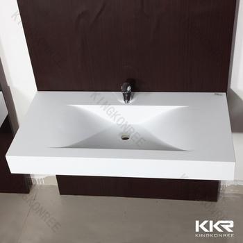 Color white floating public bathroom sinks hand wash basin for Public bathroom sink