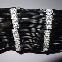 100pcs/string addressable SK6812-RGB led with heatsink(10mm*3mm);DC5V input;5cm wire spacing;with all black wire
