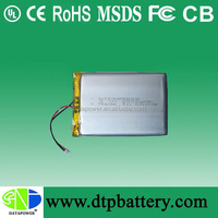 Rechargeable lithium ion battery 3.7v 2000mAh