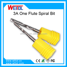 3A Fully Ground new design pattern router One flute spiral bits
