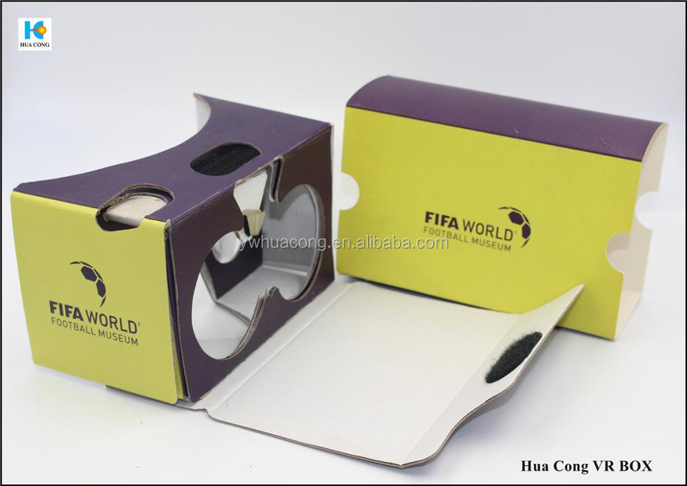 2017 new design lowest price google cardboard 3D Glasses from 100% factory