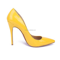 colorful high heel ladies fashion shoes women porm dress shoes yellow patent leather heels womens shoes pumps