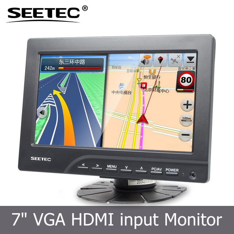 no radiation color TFT LCD 800*480 pixels 7'' panel monitor for VGA VCD DVD and GPS system
