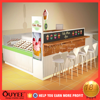Shopping Mall Fast Food Display Kiosk Stand Design For Sale