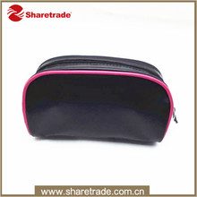 China Supplier Hot Selling Black Fashion Pu Leather Cosmetic Bag For Lady